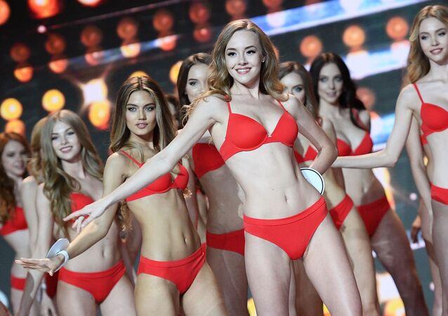 L'esibizione delle finaliste al concorso Miss Russia 2018.