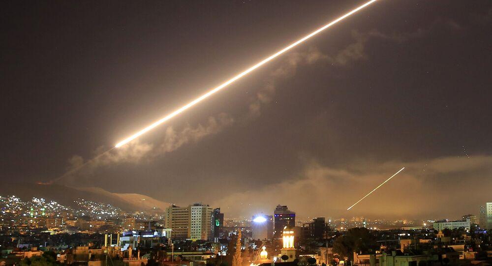 Attacco missilistico a Damasco (foto d'archivio)