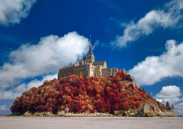 Mont Saint-Michel d'autunno