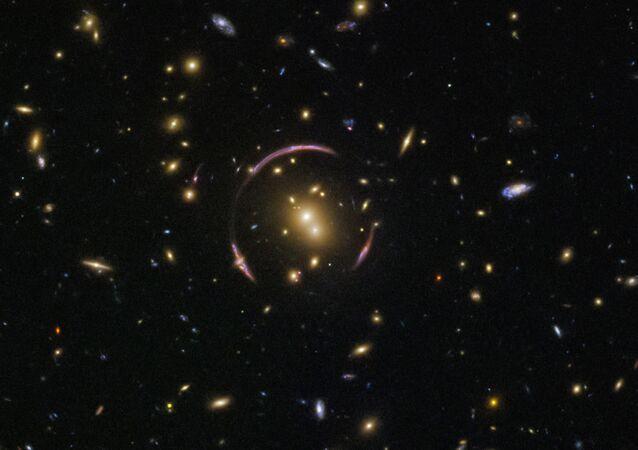 Foto dell'occhio spaziale fatta con il telescopio Hubble.