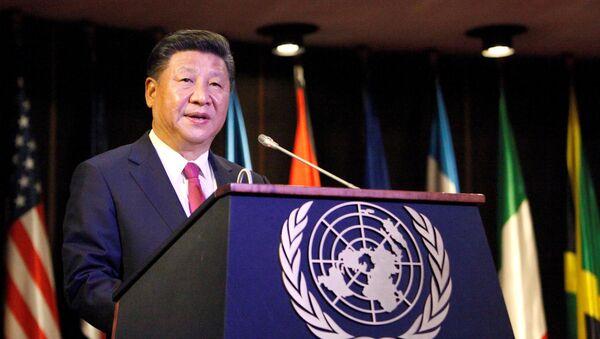 Il presidente cinsese Xi Jinping parla alla Comissione Economica per l'America Latina e i Caraibi (CEPAL) a Santiago, Cile (foto d'arhivio) - Sputnik Italia