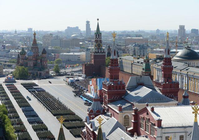 La Piazza Rossa durante la Parata del 9 maggio