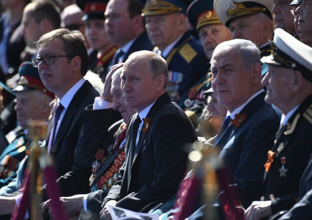 Il presidente russo Putin alla Parata del Giorno della Vittoria 2018
