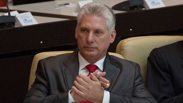 Newly elected Cuban President Miguel Diaz-Canel is seen during the National Assembly in Havana, Cuba - Sputnik Italia
