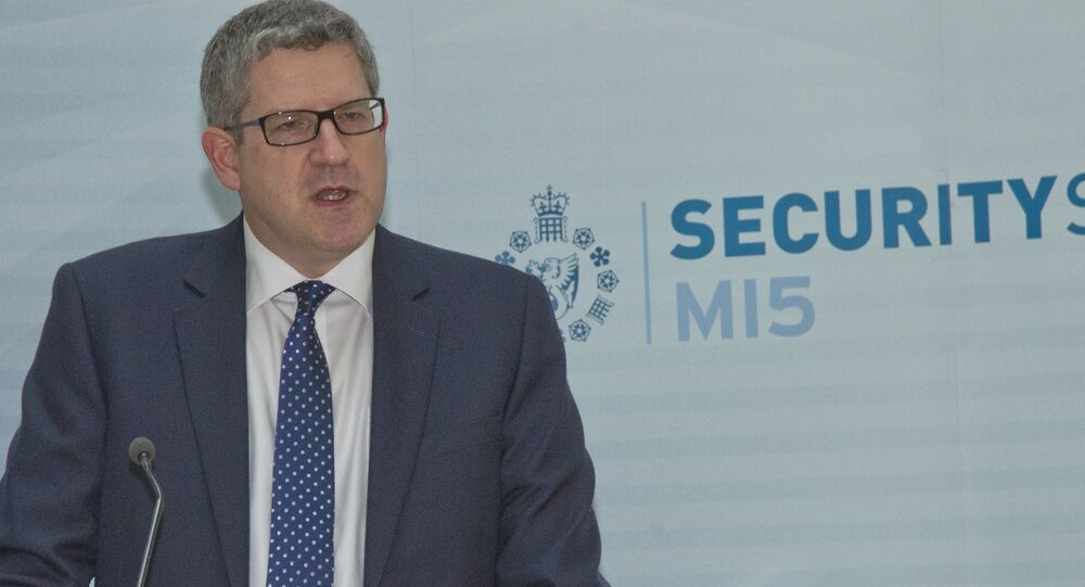 Andrew Parker, the Director General of Britain's domestic security service MI5.