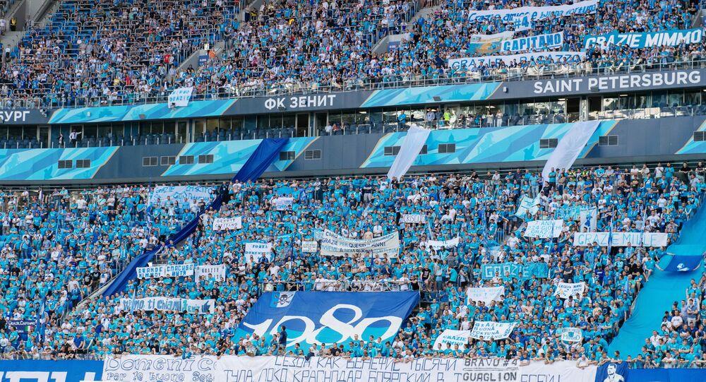 Il tributo dei tifosi dello Zenit San Pietroburgo a Domenico Criscito