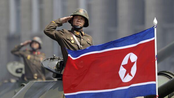 La bandiera della Corea del Nord. - Sputnik Italia
