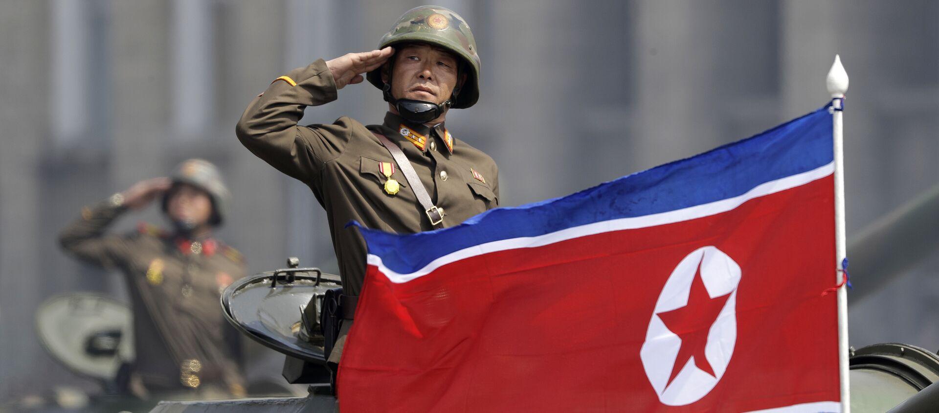 La bandiera della Corea del Nord. - Sputnik Italia, 1920, 27.03.2021