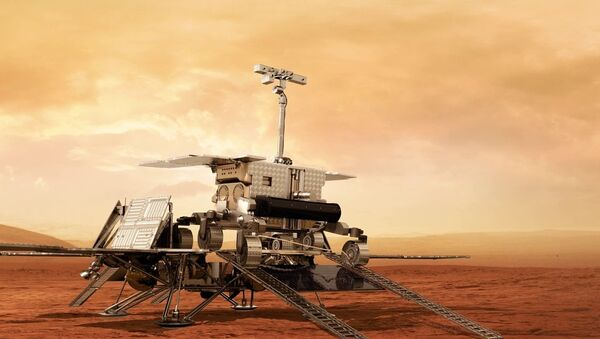 A model of the ExoMars rover to be used by the European Space Agency to drill on the Red Planet in 2020. - Sputnik Italia