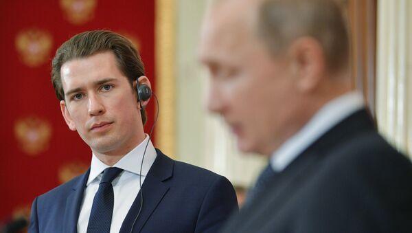 Sebastian Kurz e Vladimir Putin - Sputnik Italia