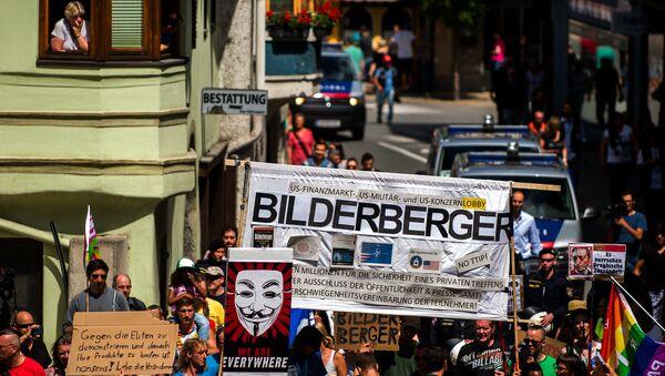 Le proteste contro la coferenza Bilderberg in Austria (foto d'archivio) - Sputnik Italia