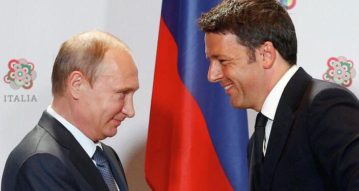 Renzi e Putin all'Expo di Milano
