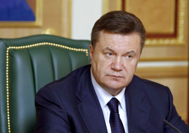 Viktor Yanukovych, l'ex presidente ucraino (foto d'archivio)