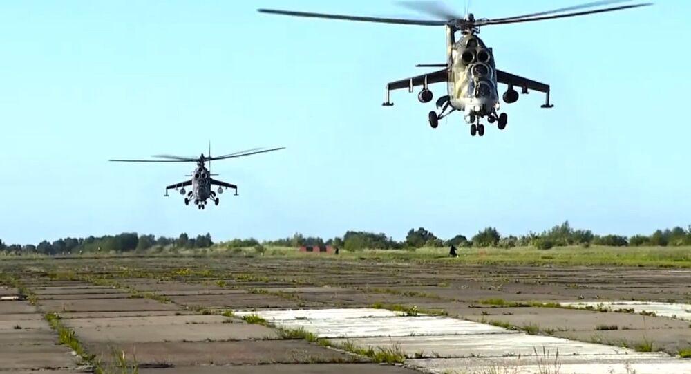 Esercitazioni degli elicotteri