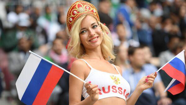 Una tifosa della nazionale russa - Sputnik Italia