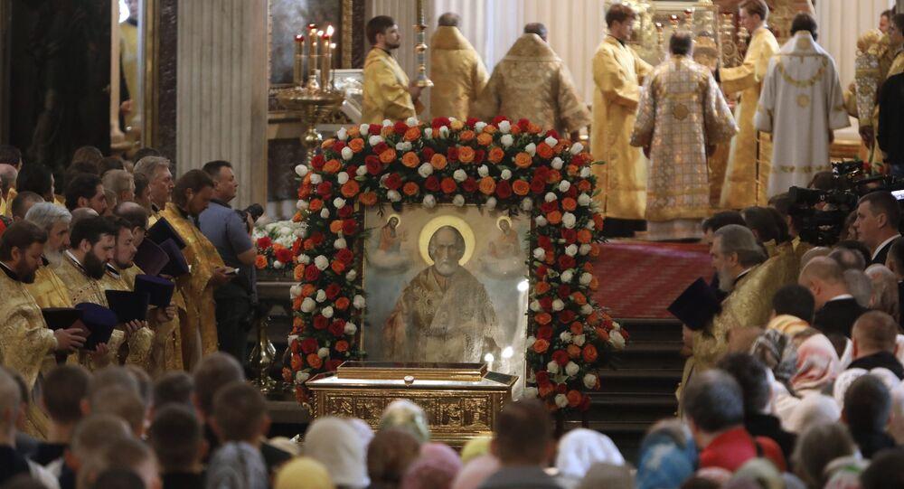 Le salme di San Nicola a San Pietroburgo