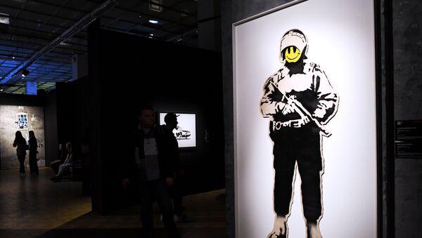 A Mosca si tiene una grande mostra dell'artista di strada Banksy. - Sputnik Italia