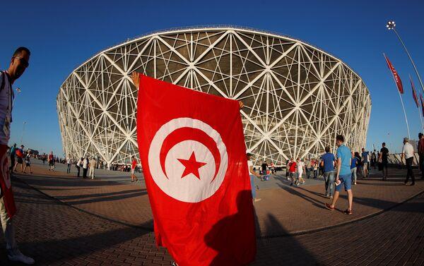 Un tifoso tunisino fuori dallo stadio di Volgograd - Sputnik Italia