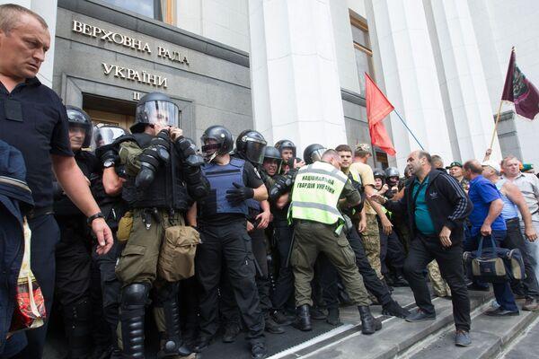 Minatori in protesta a Kiev - Sputnik Italia