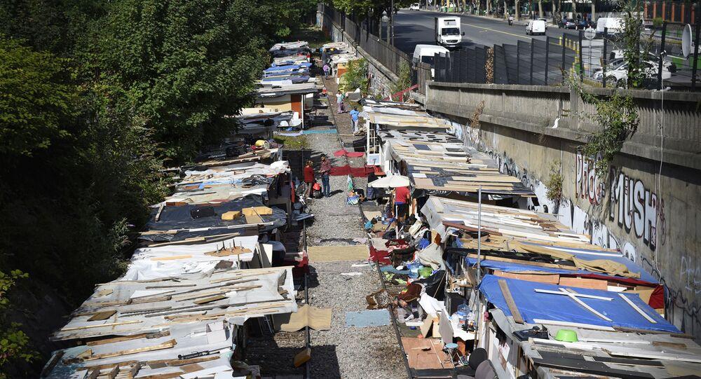 Campo dei rom a Parigi