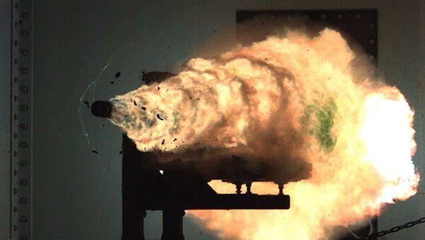 Record-setting firing of an electromagnetic railgun (EMRG). (File) - Sputnik Italia