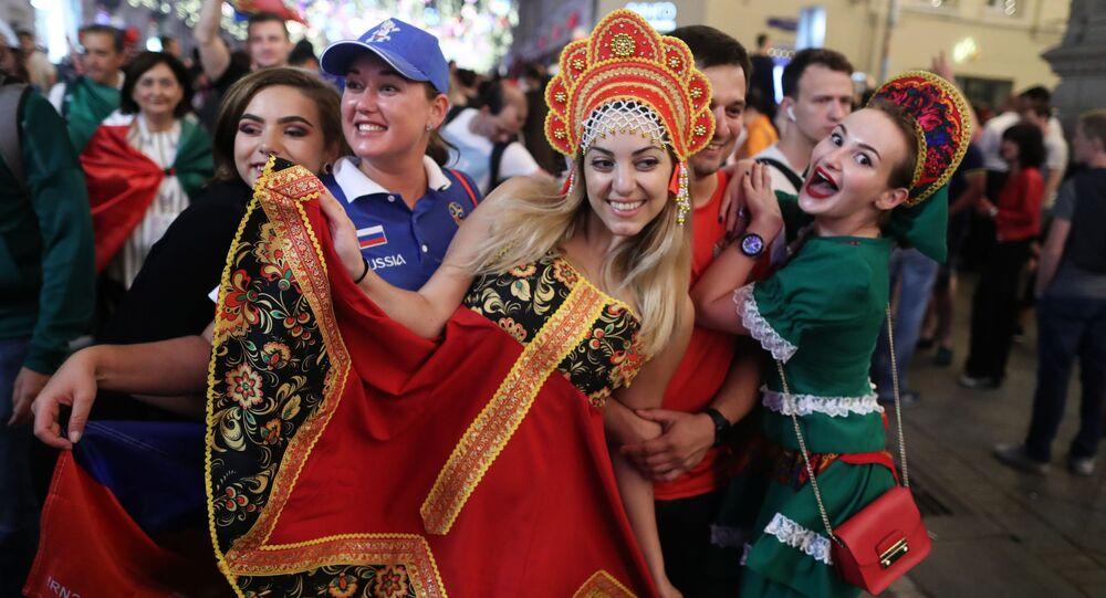 Tifose russe in festa a Mosca