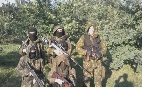 La squadra di ricognizione del reggimento Azov, la regione di Donetsk. - Sputnik Italia