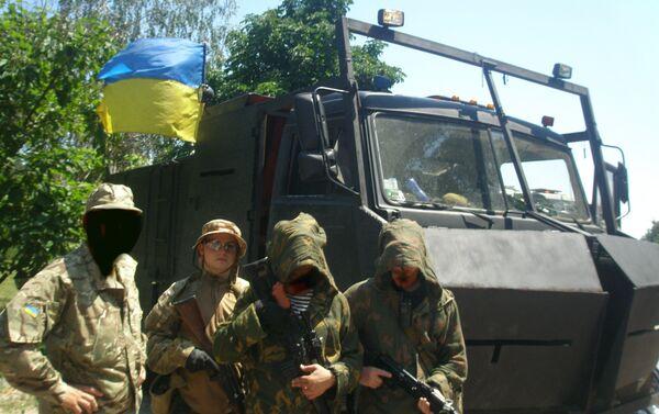 La base del reggimento Azov, Mariupol. - Sputnik Italia