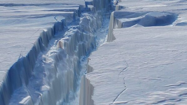The crack in Antarctica's Pine Island Glacier - Sputnik Italia