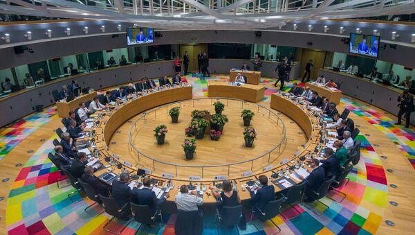 EU leaders take part in a European Union summit in Brussels, Belgium June 28, 2018. - Sputnik Italia