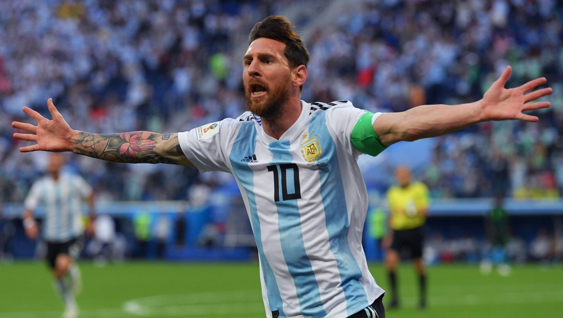 Lionel Messi celebra un goal - Sputnik Italia, 1920, 01.02.2021