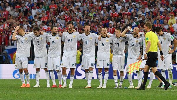 La nazionale russa esulta durante i rigori della partita contro la Spagna - Sputnik Italia