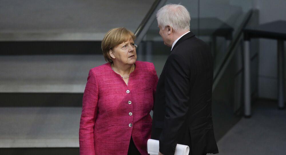 Angela Merkel ed Horst Seehofer