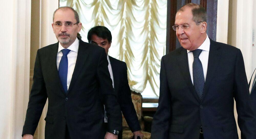 Sergei Lavrov e Ayman Safadi