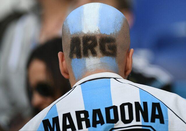 Un tifoso argentino
