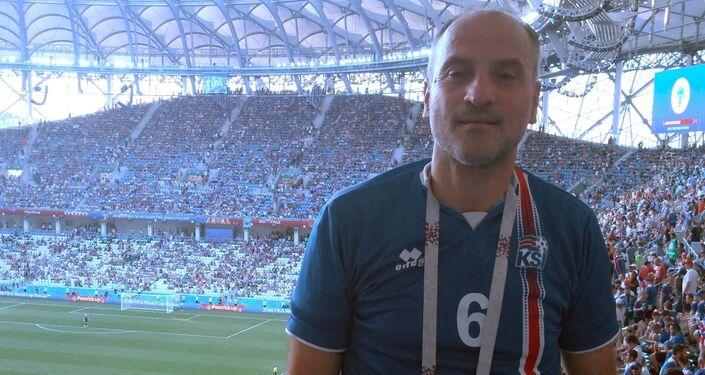 Vincenzo allo stadio di Volgograd per Islanda - Nigeria