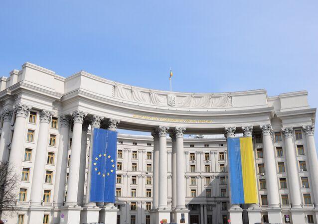 Bandiere UE e Ucraina