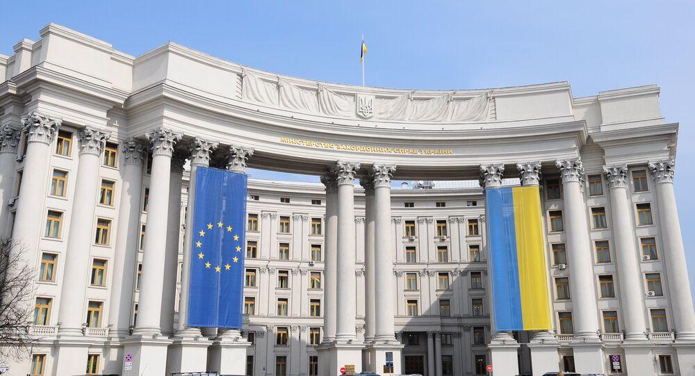 Bandiere di Ucraina e UE