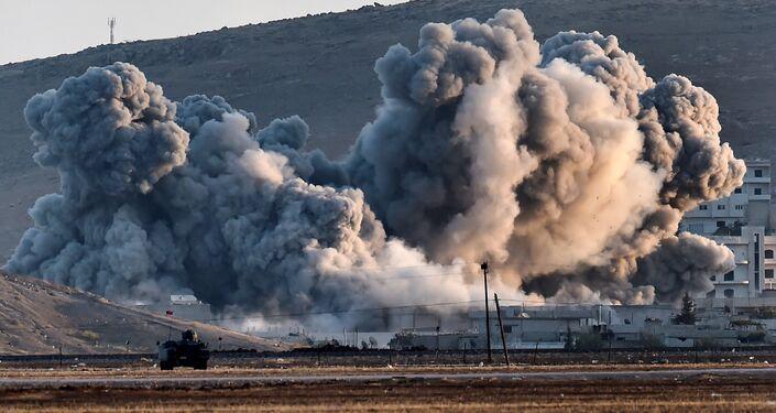 La città di Kobane in Siria