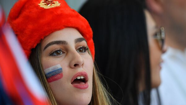 Una tifosa russa - Sputnik Italia
