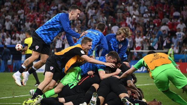 La gioia dei giocatori croati - Sputnik Italia
