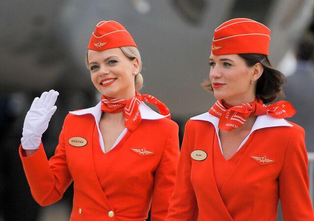 Hostess della compagnia aerea russa Aeroflot