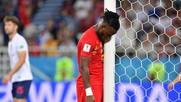 Il giocatore belga Michy Batshuayi durante la partita tra Inghilterra e Belgio della fase a gironi dei Mondiali 2018 - Sputnik Italia