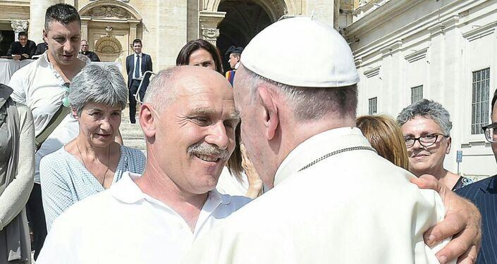 Incontro tra Sergio Pietracito e il Papa Francesco