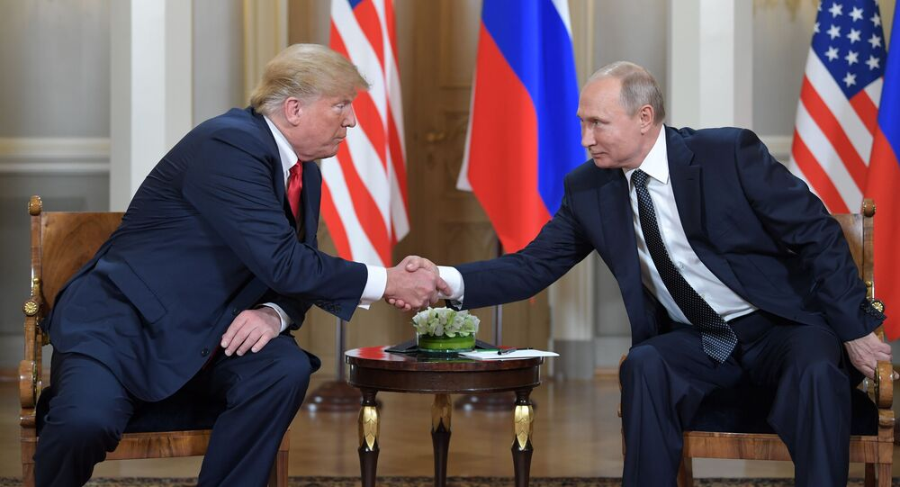 L'incontro Putin-Trump ad Helsinki (foto d'archivio)