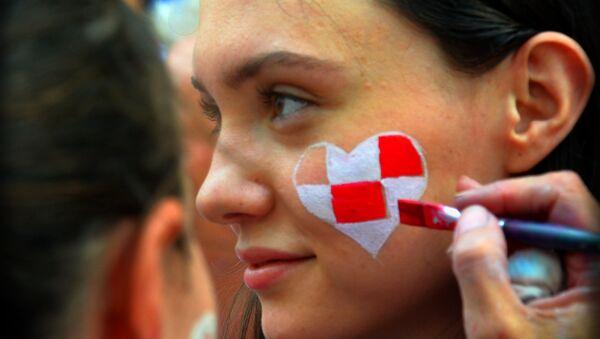 Ragazza croata si prepara per la finale - Sputnik Italia