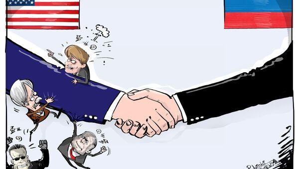 La reazione dell'establishment all'incontro Trump-Putin - Sputnik Italia