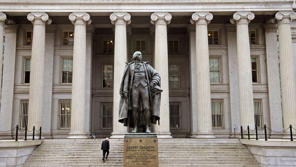 La sede del Tesoro USA a Washington - Sputnik Italia