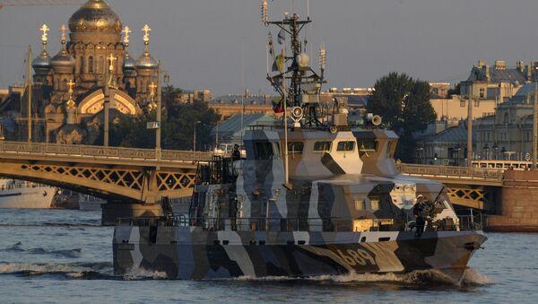 La prova generale della parata navale della Flotta russa - Sputnik Italia