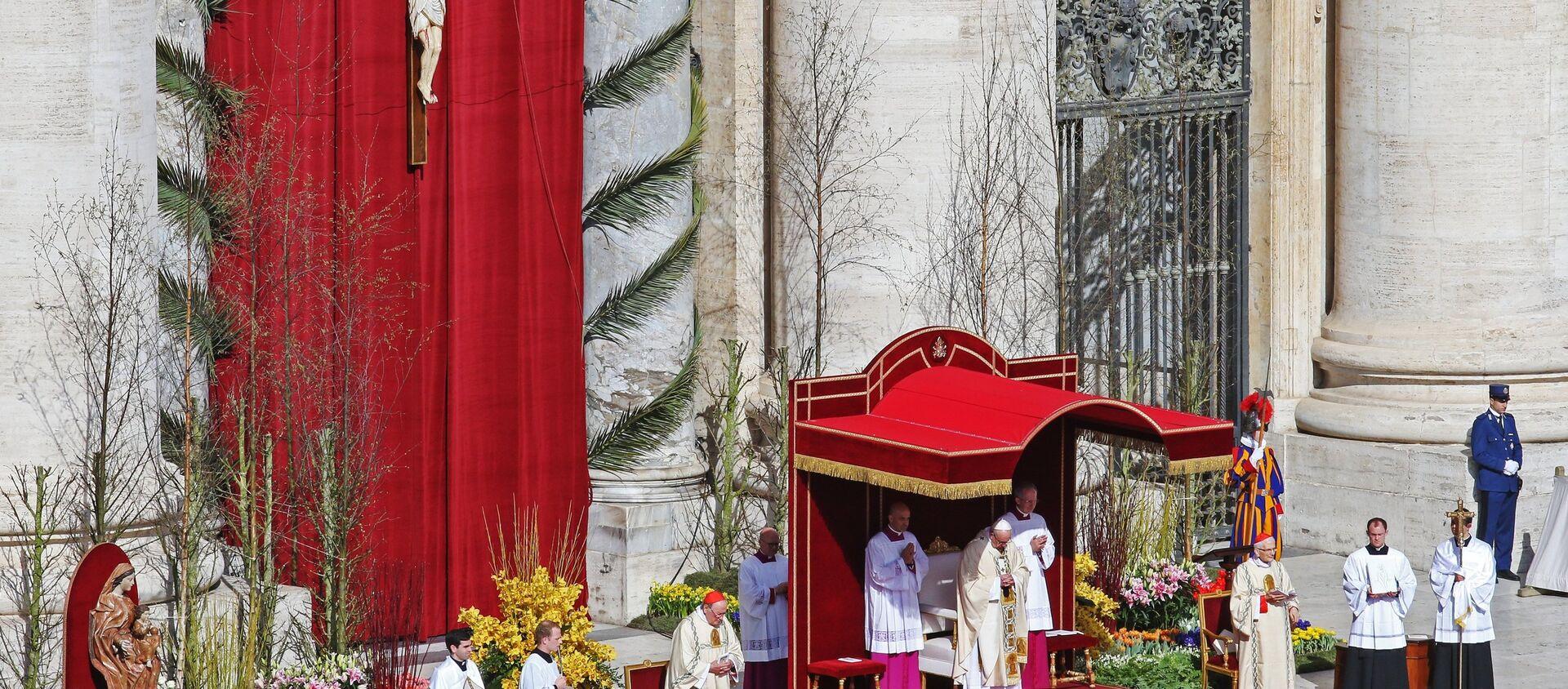 La messa di Pasqua in Vaticano - Sputnik Italia, 1920, 22.12.2020